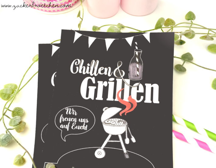 Einladung zum Chillen & Grillen {Freebie!} – Frau Zuckerbrötchen