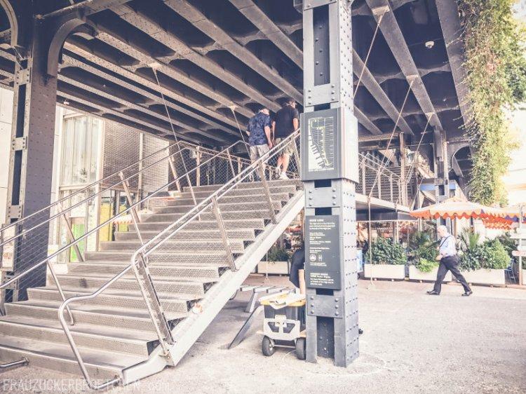 Der High Line Park_Die stillgelegte Hochbahntrasse im Manhattans Westen_Start Washington St3_Frau Zuckerbrötchen