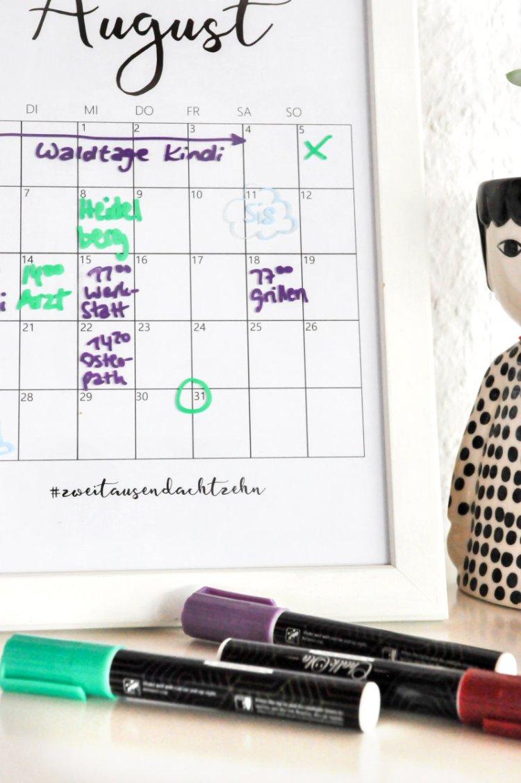 DIY Editierbarer Terminkalender aus einem alten Bilderrahmen 20